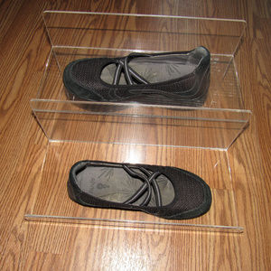 Ahnu Black Strappy Mary Jane Slip On Flats Shoes 6